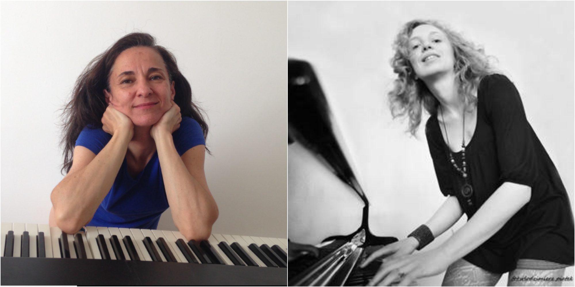 photos des pianistes a gauche paule cornet a droite liliana kostrzew de l academie de danse